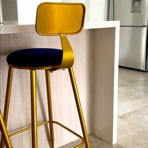 Bar stool gold brand new in the box